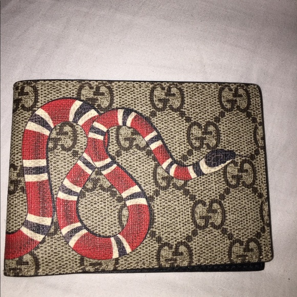b12c3021fab9 Gucci Other - King snake print GG wallet Authentic